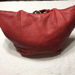 The Sak Red Leather Hobo Bag